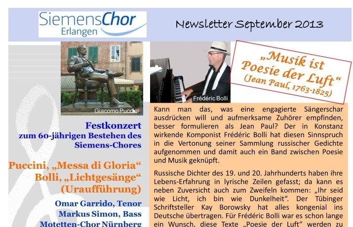 Newsletter September 2013 - Bollis